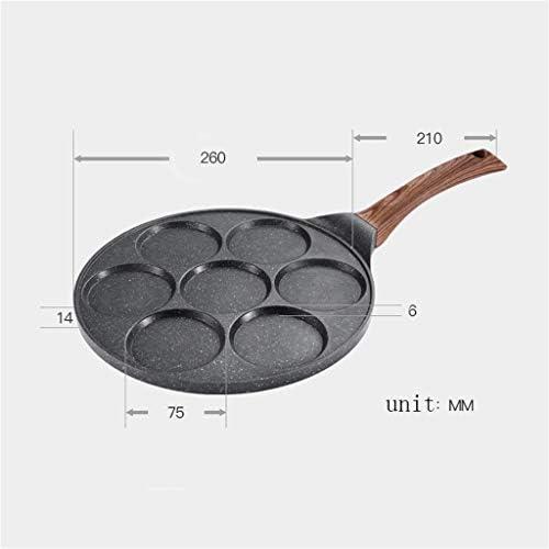 Cuisine Poêle À Frire, Alliage D'aluminium Poêle Antiadhésive Multifonction Sept Trous Moule Plaque À Induction But Général Casseroles