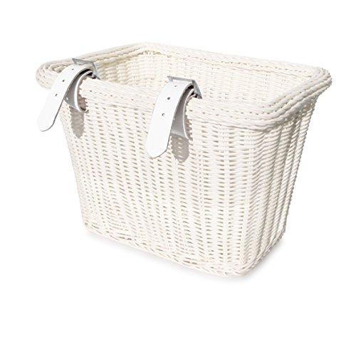 Colorbasket 00672 Adult Front Handlebar Rectangle Bike Basket, White