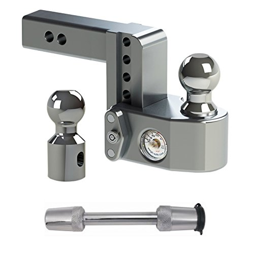 Check Out This Weigh Safe WS4-2 Adjustable 4″ Drop Hitch Ball Mount 2″ Shaft w/ Trimax T5 Receiver Hitch Lock Bundle