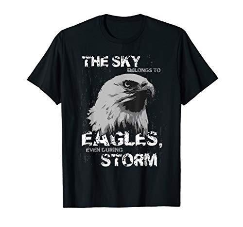 (Vintage Amercian Eagle - The Sky Belongs To Eagles.. T)