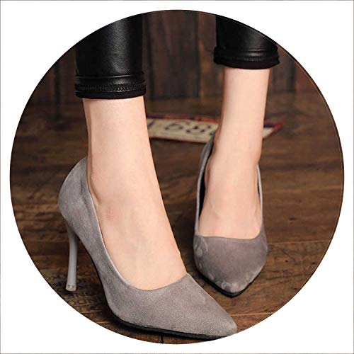 WC-hot High Heels Pumps Classic White Red Beige Sexy Prom Wedding Shoes,176 Gray 10Cm,5