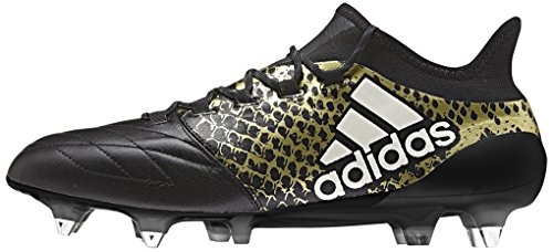 adidas X 16.1 SG Leather, Scarpe da Calcio Uomo Multicolore (Cblack/Ftwwht/Goldmt)