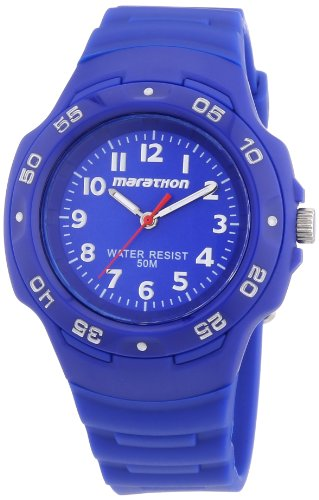 Timex Ironman Marathon Oversized Blue Dial Blue Rubber Unisex Watch