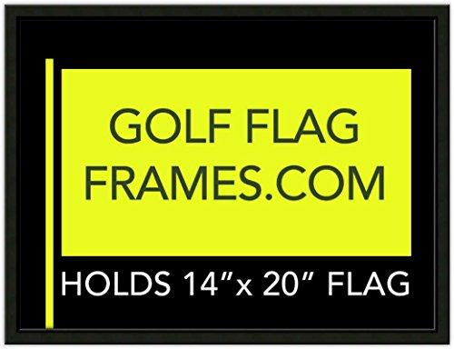 Golf Flag Frames 17x23 Black, Moulding blk-001, Reversible Green-Black Mat (holds 14x20 PGA, Ryder Cup, US Open Golf Flags; flag not incl)