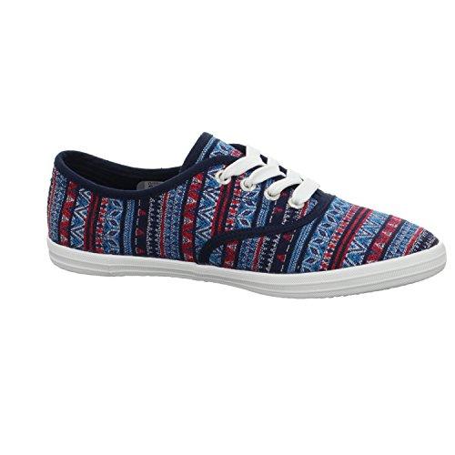 TOM TAILOR2792405 8 - zapatos con cordones Mujer Azul