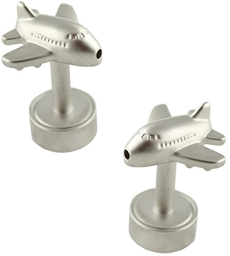 MasGemelos-Bouton de Manchette Avion Jumbo avec Lumière Cufflinks