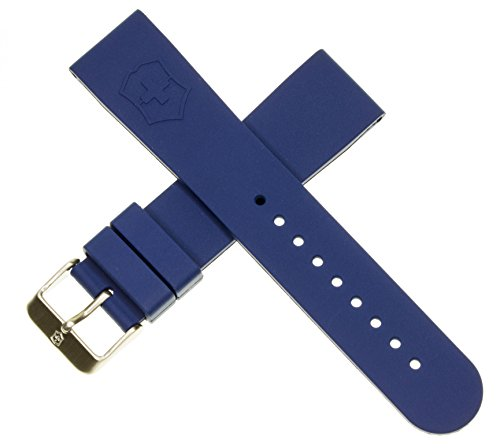 (Genuine Victorinox Swiss Army Maverick Dive Blue Rubber Strap Diver Watch Band 22mm)
