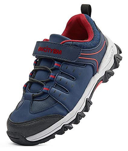Boys Trail Running Kids Hiking Shoes Youth Athletic Outdoor Waterproof Sneakers Navy Size 9.5