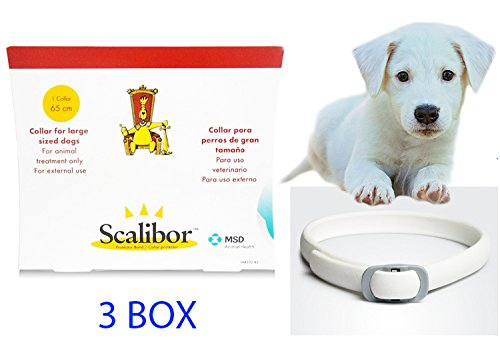 Scalibor Flea Tick Dog Collar 65cm Large Dog Over 7 Weeks Control Up To 6 Months 3 Box