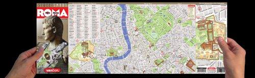 Rome Italy Subway Map.Streetsmart Rome Map By Vandam Laminated Highly Legible Folding