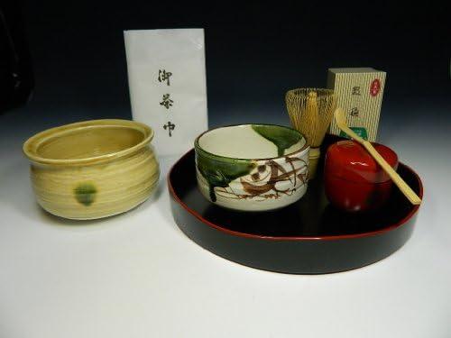 はじめての茶道 すべて日本製 盆点前セット 高台寺蒔絵棗 朱塗 茶道具