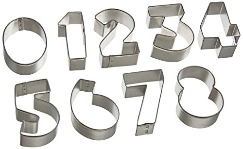 cybrtrayd-9-piece-numbers-0-9-metal-cookie-cutter-gift-box-set