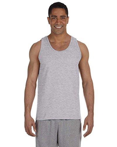 Product of Brand Gildan Adult Ultra Cotton 6 oz Tank Top - Sport Grey - 2XL - (Instant Savings of 5% & More)