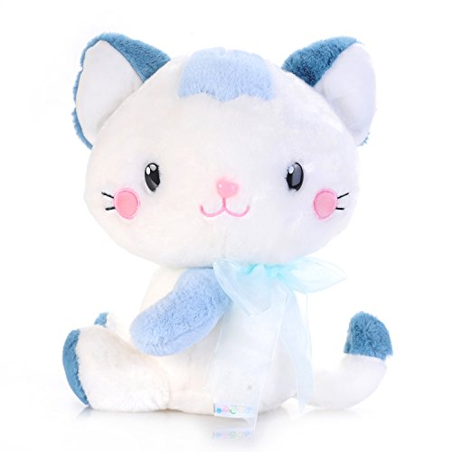 "USATDD Cat Plush Stuffed Animal Toy Bedtime Soft Doll Lovely Cats Green 9.8"" Best Gift"