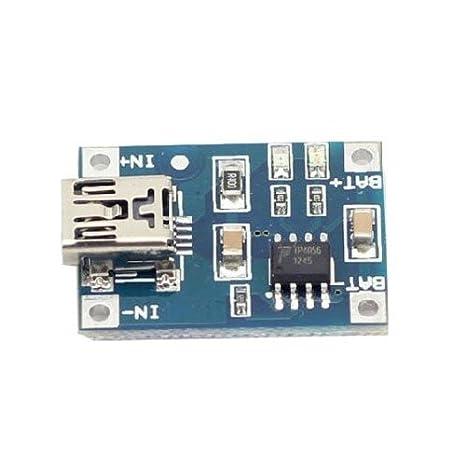Aihasd 5PCS TP4056 Mini USB Tablero Cargador 5V 1A Módulo Lineal Batería Litio módulo