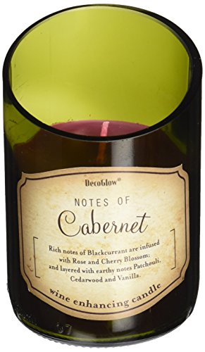 Deco Glow CDL5468 Candle, Wine Bottle Cabernet (Scented Wine Candles)