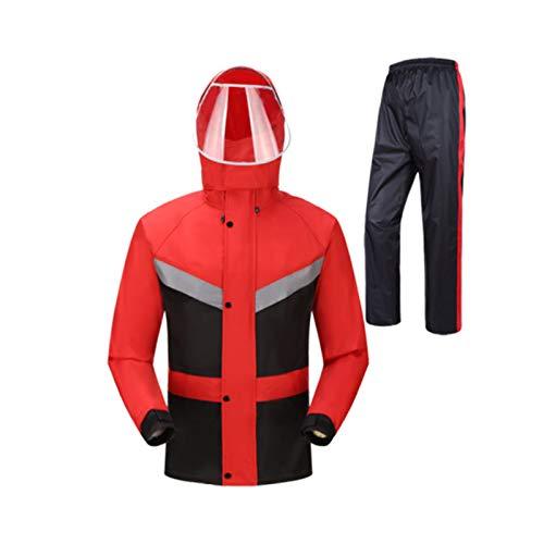 de étanche M noir couleur deux réutilisable plus fibre Hbwjsh divisée taille Imperméable noir polyester Combinaison rouge par qw40Fp0x