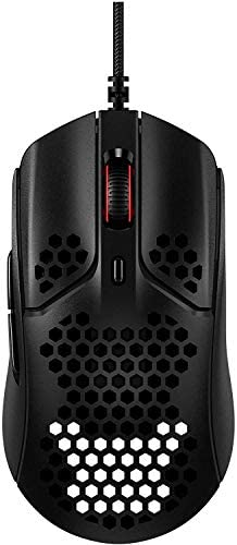 HyperX Pulsefire Haste, Gaming Mouse, Ultra-Lightweight, 59g, Honeycomb Shell, Hex Design, RGB, HyperFlex USB Cable, Up to 16000 DPI, 6 Programmable Buttons