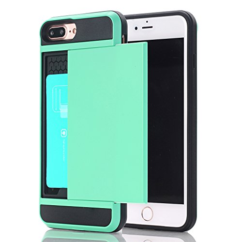 (iPhone SE Case , iPhone 5S Case ,iPhone 5 Case ,Alkax[Card Slot Holder] Heavy Duty Slim Fit Wallet Case Dual Layer Protection Shock Absorbing Rubber Bumper Cover+1 Free Stylus Pen)