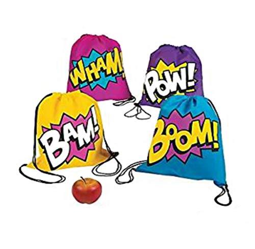 (Fun Express Superhero Girl Drawstring Backpacks Bags - 24)