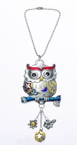 Ganz Owl Color Art Car Charm ()