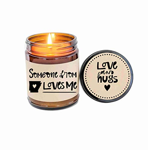 Someone from Arkansas Loves Me Long Distance Gift LDR Gift Arkansas Love Arkansas Candle Gift ()