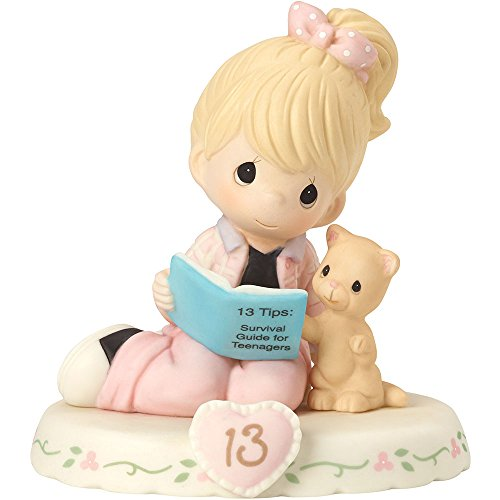 Grace Porcelain (Precious Moments 162012  Growing In Grace, Age 13, Bisque Porcelain Figurine, Blonde Girl)