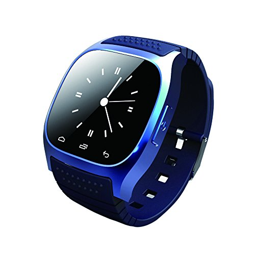 GIMTVTION M26 Bluetooth Smart Watch,Unlocked Watch Cell Phone with Passometer Monitor SMS Wristwatch,Waterproof Smartwatch for Android Samsung IOS IPhone 7 Plus 6S Adult Kids (Blue)