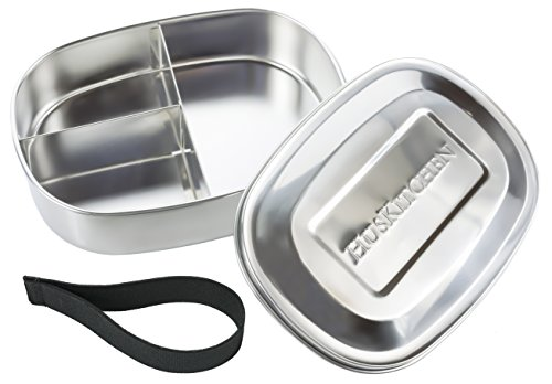 HusKitchen Stainless Steel Lunch Box Food Container, 3 Compartment