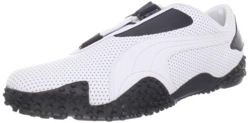 Puma Mostro Perf Sneaker,White/Black,5 US Mens/6.5 D US Womens