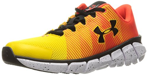Under Armour Men's Grade School X Level Scramjet Sneaker, Taxi (790)/Phoenix Fire, ()