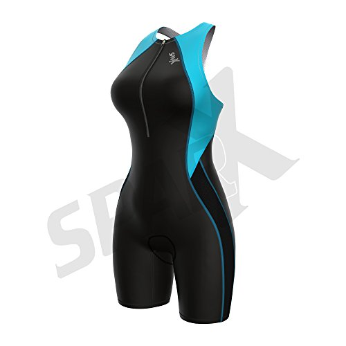 Sparx Women's Core Triathlon Suit Tri Race Suit W/ Internal Support Bra Cycle Swim Run (2XL, - Women Triathlon Wetsuit