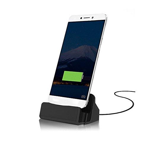 - ONX3 (Black) Motorola Moto Z Play Droid Desktop Charger USB TYPE C Base Stand Data Sync Charging Docking Station