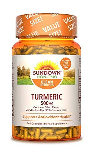 Sundown Turmeric 500mg Herbal Supplements, 140 Count