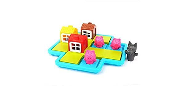 UYGN Smart Hide & Seek Juegos De Mesa Three Little Piggies 48 Challenge con Solution Games Iq Training Toys For Children: Amazon.es: Juguetes y juegos