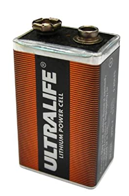 Ultralife 9V Lithium Battery - Lasts Up To 10 Years! Foil Sealed Pack
