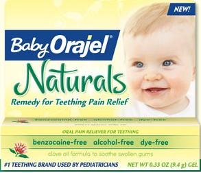 Bébé Orajel Naturals Teething Pain Relief - 0,33 oz (Pack de 3)