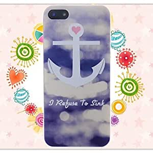 YXF Ships Anchors Pattern Embossment Back Case for iPhone 5/5S