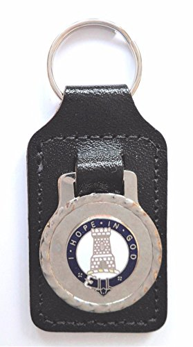 MacLean Surname Scottish Clan Name Crest Enamel and Metal Key Ring / Fob by 1000 Flags Limited
