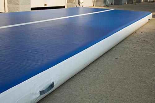 HUD Airtrack Inflatable Gym Mat- Home Air Floor Tumbling Mat for Gymnastics Cheer Lake or Pool. Air Tracks for Tumbling. Pick your size. Professional Quality (Blue, 23ft x 6.5ft x 8in)