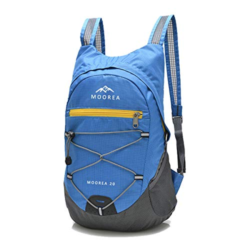 MOOREA Lightweight Backpack for Travel Hiking, Durable Foldable Waterproof Backpack Daypack Bag for Men Women