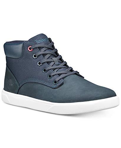Timberland A1WJX Men's Groveton Plain Toe Chukka F/L Sneaker, Navy Nubuck - 10.5