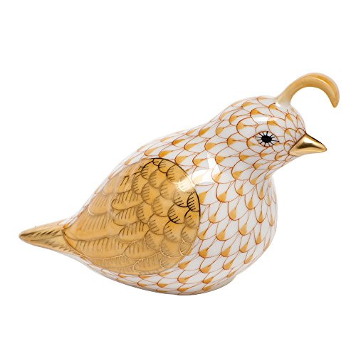 Herend California Quail Porcelain Figurine Butterscotch, used for sale  Delivered anywhere in USA