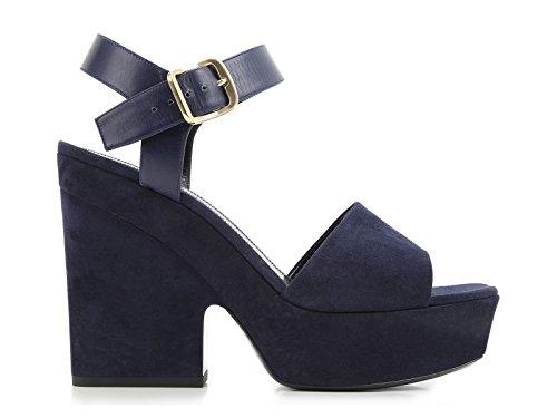 Céline Ladies 317773spzc07ny Sandali In Pelle Scamosciata Blu