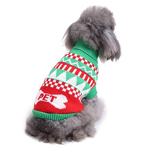 KINGSWELL Halloween Pet Costume Christmas Dog Sweater Holiday Classic Dog Clothes Coat Jacket -