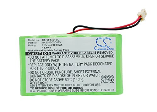 Nurit Terminal - CameronSino Replaceable Battery for VERIFONE Nurit 3010 Backup Battery 2000mAh /14.40Wh / 7.2V, Green