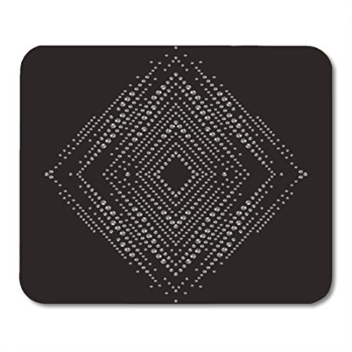 (Semtomn Gaming Mouse Pad Brilliant Stones Rhomb Pattern Necklaces Bracelets Beautiful Jewelry Brooch 9.5