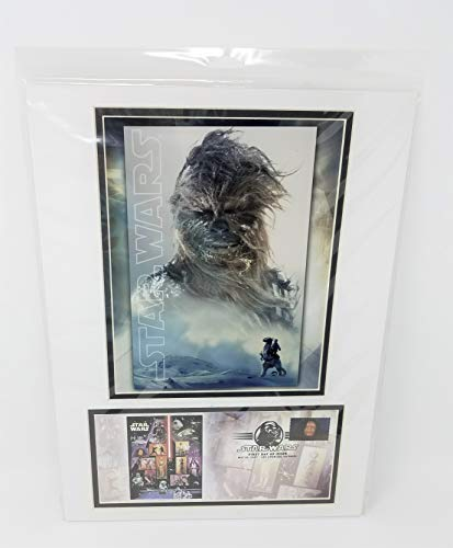 Star Wars Chewbacca United States Postal Service (USPS) First Day Issue 2007 Stamp Matted Photo-Cover
