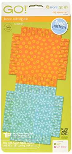 AccuQuilt GO Fabric Cutting Dies; 5-1/4 inch; Rag Square