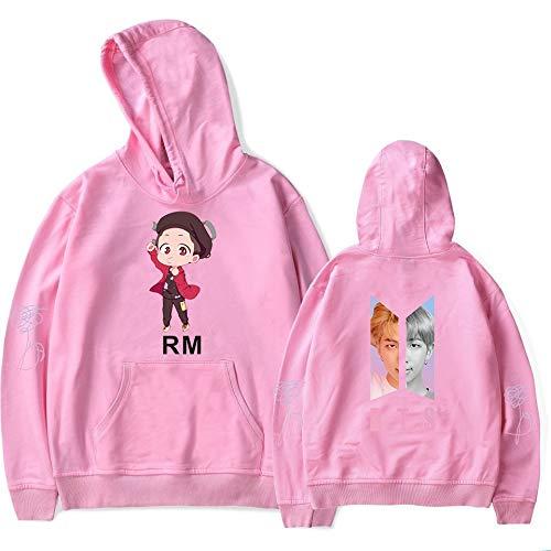 KAPAIDASHI BTS, RM antiProiettile Junior Group Abbigliamento 2018 Nuova Edizione Q Teen Trend Uomini e Donne Hooded Camicie con Cappuccio,rosa,XXS